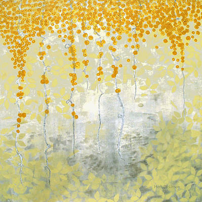 Abstract Painting - Golden Morning by Herb Dickinson
