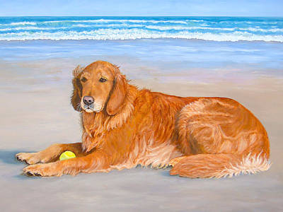 Art Print featuring the painting Golden Murphy by Karen Zuk Rosenblatt