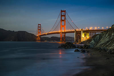 San Fransisco Photograph - Golden Night by Peter Irwindale