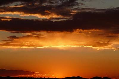 Photograph - Golden Orange Sunset by Marilyn Burton
