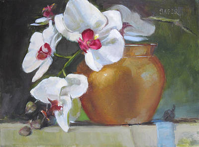 Painting - Golden Orchid by Chris  Saper