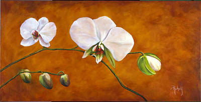 Painting - Golden Orchids by Suzie Richey
