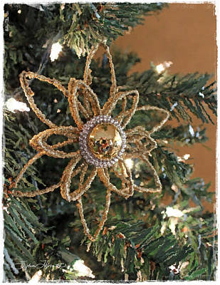 Christmas Card Photograph - Golden Ornament by Sylvia Thornton