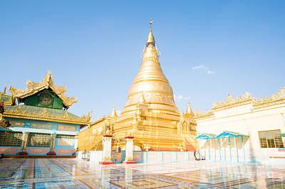 Burma Photograph - Golden Pagoda On Sagaing Hill - Mandalay - Myanmar by Matteo Colombo