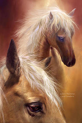 Horse Art Mixed Media - Golden Palomino by Carol Cavalaris