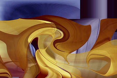 Digital Art - Golden Passages by rd Erickson