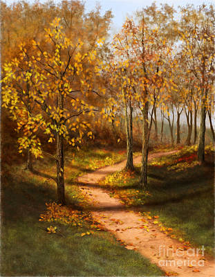 Painting - Golden Path  by Sena Wilson
