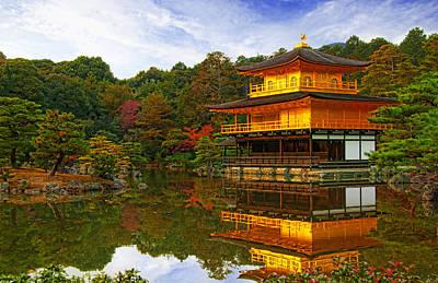 Golden Pond Wall Art - Photograph - Golden Pavilion by Midori Chan