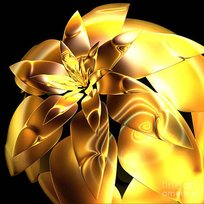 Golden Pineapple By Jammer Art Print