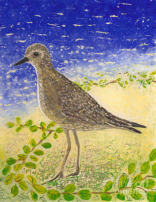 Reverse On Plexiglass Painting - Golden Plover by Anna Skaradzinska