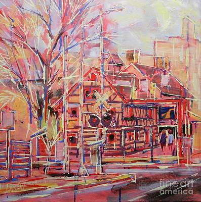 Loose Painting - Golden Plow Tavern Of York by Larry Lerew