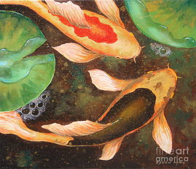 Painting - Golden Pond Series 1 by Edoen Kang