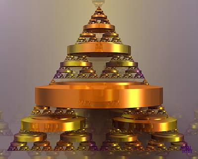 Digital Art - Golden Pyramid by Manny Lorenzo