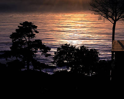 Photograph - Golden Rays Of Sunset On The Water by William Havle
