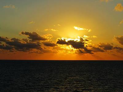Art Print featuring the photograph Golden Rays Sunset by Jennifer Wheatley Wolf