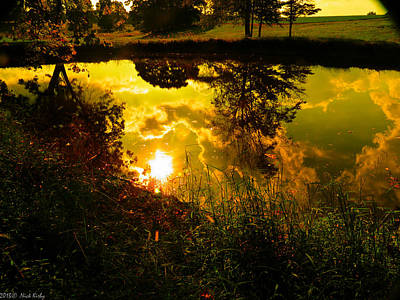 Photograph - Golden Reflections 2 by Nick Kirby
