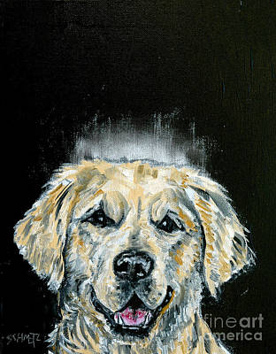 Painting - Golden Retriever Angel by Jay  Schmetz