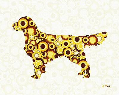 Digital Art - Golden Retriever - Animal Art by Anastasiya Malakhova