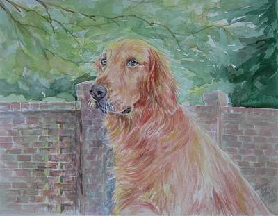 Painting - Golden Retriever by Gloria Turner