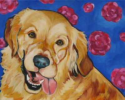 Painting - Golden Retriever - Honey by Janet Burt