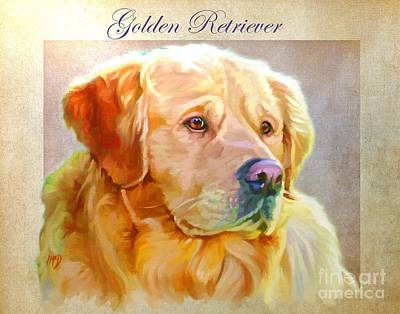 Retrievers Digital Art - Golden Retriever Painting by Iain McDonald