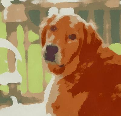Puppy Dog Eyes Painting - Golden Retriever Profile by Dan Sproul