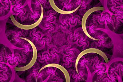 Digital Art - Golden Rings by Sandy Keeton