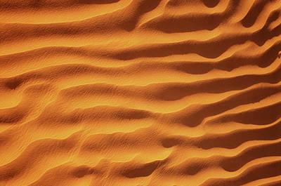 Adam Photograph - Golden, Rippled Sand by Peter Adams