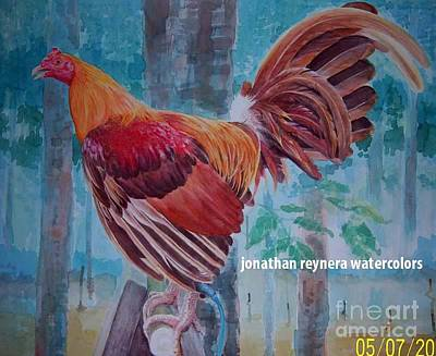 Gamefowl Painting - Golden Rooster by Jonathan Reynera