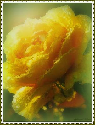 Painting - Golden Rose Blossom by Maryann  DAmico