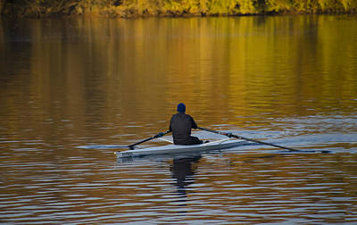 Golden Rower Art Print by Bill Cannon
