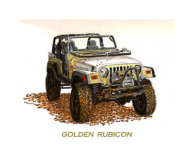 Painting - Golden Rubicon 2005 by Jack Pumphrey