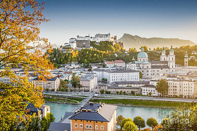Golden Salzburg Art Print by JR Photography