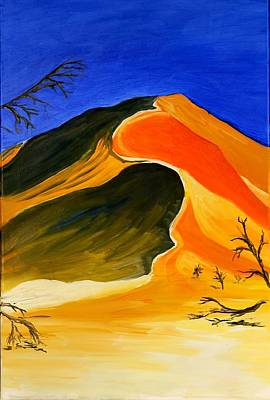 Golden Sand Dune Center Panel Art Print