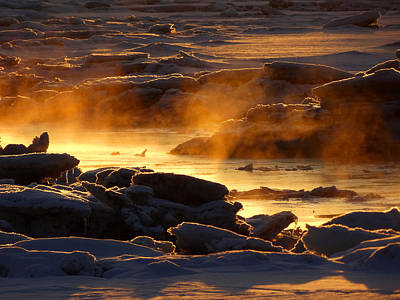 Photograph - Golden Sea Smoke At Sunrise by Dianne Cowen
