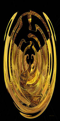 Digital Art - Golden Seal - Digital Abstract by rd Erickson