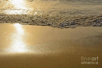 Golden Seashore By Kaye Menner Art Print by Kaye Menner