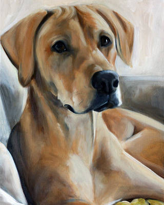 Rhodesian Ridgeback Painting - Golden Shadows by Mary Sparrow