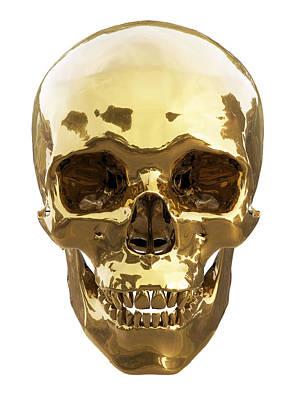 Golden Skull Art Print by Vitaliy Gladkiy