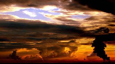 Golden Sky Art Print by Karen Kersey