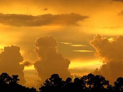 Golden Sky Art Print by Zina Stromberg