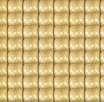 Golden Sparkle Biscuits Pattern Unique Graphic V3 Art Print by Navin Joshi