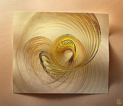 On Paper Digital Art - Golden Spiral by Gun Legler