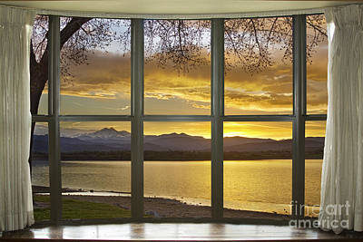 Epic Photograph - Golden Spring Twin Peaks Sunset  Bay Window View by James BO  Insogna