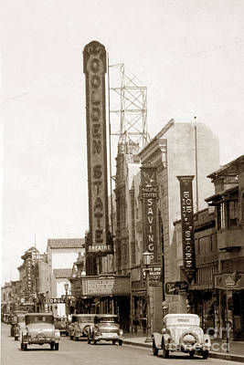 Photograph - Golden State Theatre Monterey California Circa 1927 by California Views Archives Mr Pat Hathaway Archives
