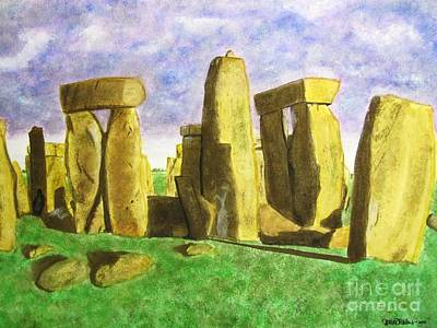 Golden Stonehenge Art Print