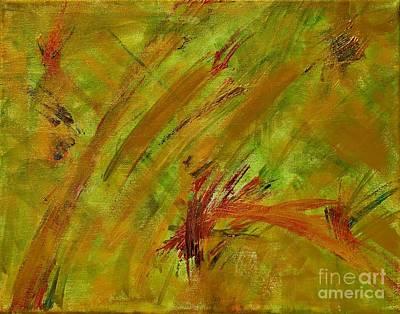 Golden Summer Abstract Original by Anne Clark