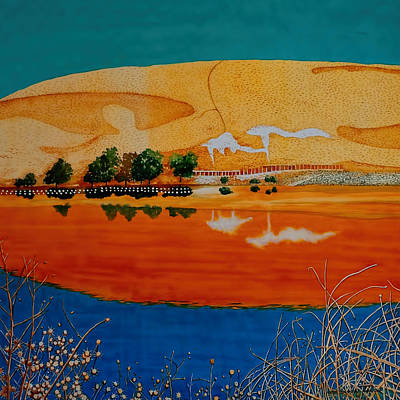 Painting - Golden Summer At Contra Loma Reservoir by Andre Salvador