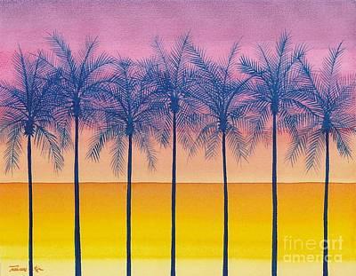 Painting - Golden Sundown by Frances Ku