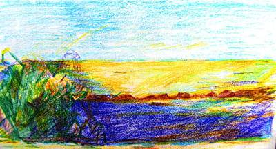 Painting - Golden Sunlight On The Sea Cyprus by Anita Dale Livaditis